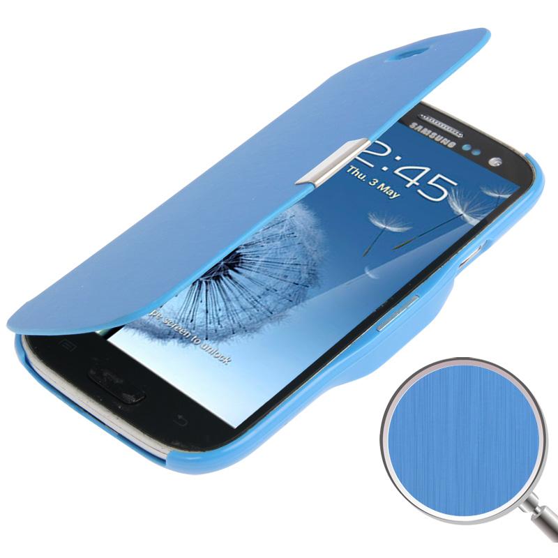 Couverture Flip Bleu Pour La Mini-samsung Galaxy S qn4lmSx
