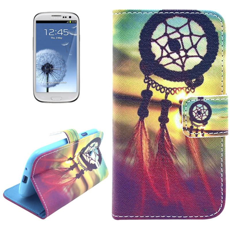 huge selection of 24ce0 aaa74 Samsung Galaxy S3 (Neo), Horizontale Flip Cover met Afbeelding en Credit  Card Gleuven, Azteken Symbool